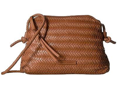 Loeffler Randall Mallory Woven Crossbody Bag (Timber Brown) Handbags