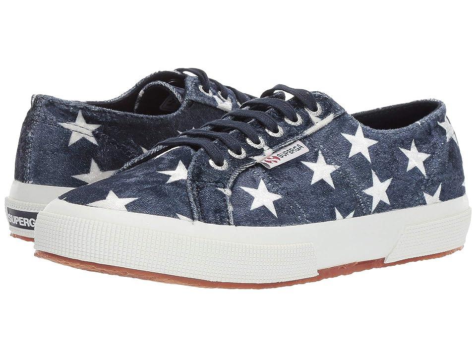 Superga 2750 Printedvelw (Navy/White Star) Women