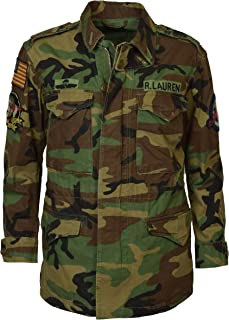 Polo Ralph Lauren Women's Camo Military Style Patch Jacket