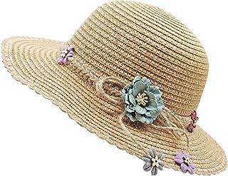 Bienvenu Little Girl Kids Summer Straw Hat Wide Brim...