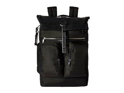 Tumi Alpha Bravo London Roll-Top Backpack (Black) Backpack Bags