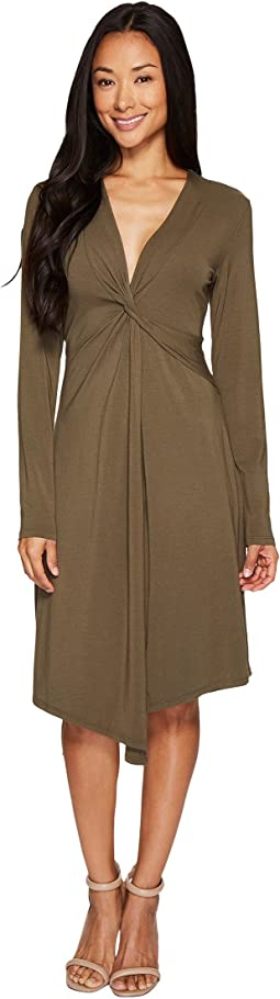 Mod-o-doc - Cotton Modal Spandex Jersey Seamed Flyaway Dress