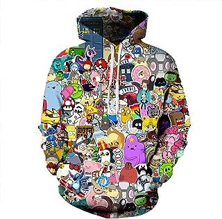 NEWCOSPLAY Unisex Novelty Hoodies 3D Digital Print Sweatshirt Pockets Pullover