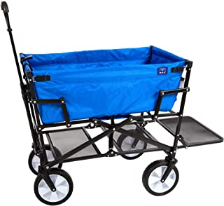 folding wagon with canopy and storage rack