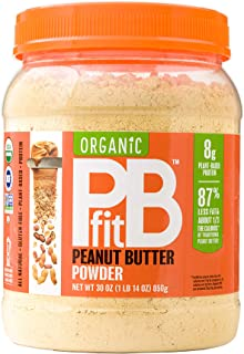 PBfit All-Natural Organic Peanut Butter Powder, Powdered Peanut Spread from Real Roasted Pressed Peanuts, 8g of Protein (3...
