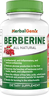 Sponsored Ad - Lower Cholesterol, Triglyceride, Weight & Lower Blood Sugar with HerbalGenix Berberine 500mg HCL Supplement...