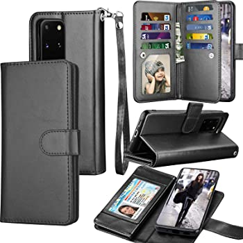 Galaxy S20 Case, Galaxy S20 Wallet Case, Tekcoo Luxury PU Leather Cash Credit Card Slots Holder Carrying Folio Flip Cover [Detachable Magnetic Hard Case] & Kickstand for Samsung Galaxy S20 [Black]