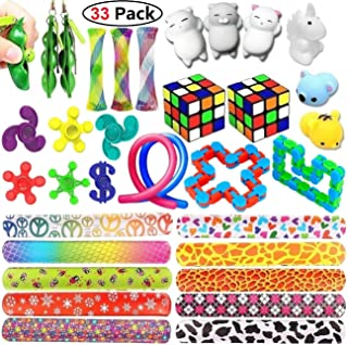 Sensory Toys Bundle-Fidget Toys Set for Stress Relief and Anti-Anxiety for Kids and Adults, Sensory Fidgets and Squeeze Widget for Relaxing Therapy-Special Toys Assortment for ADHD Anxiety Autism