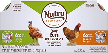 product image for NUTRO Perfect Portions Grain Free Natural Wet Cat Food, Cuts in Gravy