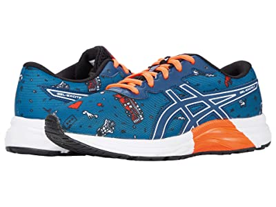 ASICS Kids GEL-Excite 7 (Little Kid/Big Kid) (Mako Blue/White) Boy