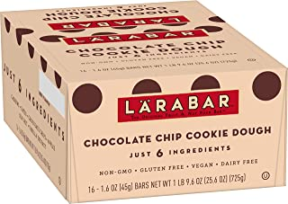 Larabar, Gluten Free Bar, Chocolate Chip Cookie Dough, Vegan (16 Bars)