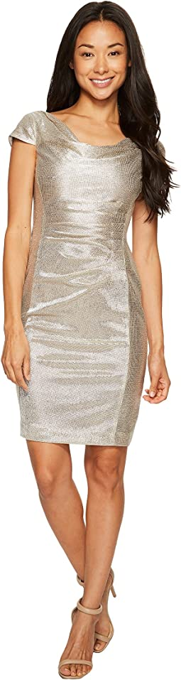 Petite Metallic Knit Dress