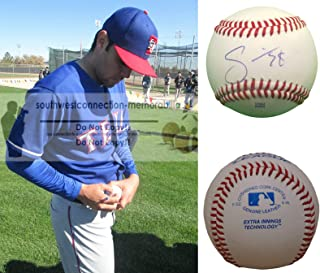 Oakland Athletics A's Joakim Soria Autographed Hand Signed Baseball with Exact Proof Photo of Signing, Kansas City Royals, Pittsburgh Pirates, Detroit Tigers, Texas Rangers, Chicago White Sox, COA