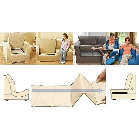 Rejuvenecedor de asiento de sofá resistente, soporte de 3 plazas, protector de tapicería empapado, tablero de barras de madera MDF súper sólido para ...