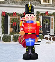 inslife 8 Ft Christmas Inflatable Nutcracker Decoration Xmas House Guard Soldier Decorations for Home Yard Lawn Outdoor Indoor Night