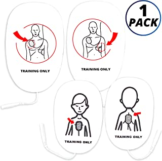 CPR Assistant 1 Adult Set + 1 Infant/Child Set Universal AED Pads for AED Trainers, CPR Training Supplies, Replacement Smart Pads for CPR Manikins and AED Trainer
