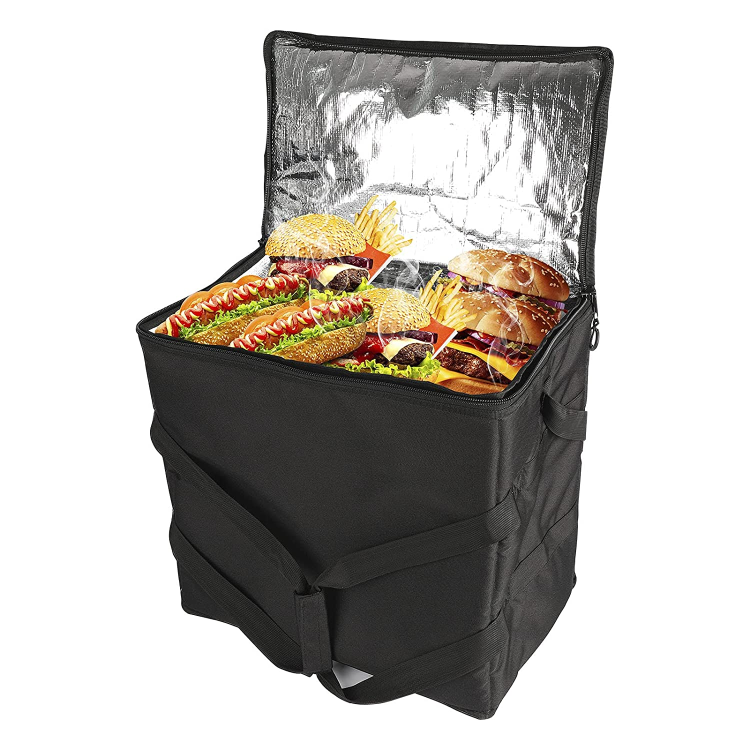 Livtribe DC 12V Heated Food Delivery Bag, Portable Pizza Delivery Thermal System, Insulated Cooler Food Delivery Bag, 17.7