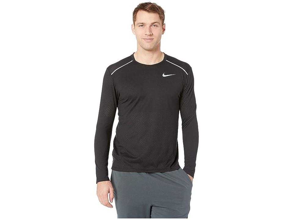Nike Breathe Rise 365 Long Sleeve (Black/Reflective Silver) Men