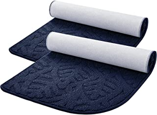 SMARTAKE 2-Pack Indoor Doormat, 18 x 30 Inches Non-Slip Front Door Rug, Durable Printed Kitchen Rug, 1/4 Round Corner Desi...