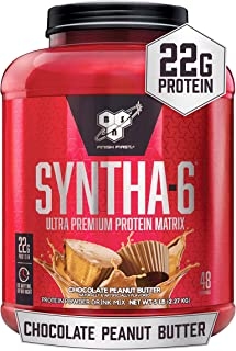 BSN SYNTHA-6 Whey Protein Powder, Micellar Casein, Milk Protein Isolate Powder, Chocolate Peanut Butter, 48 Servings (Pack...
