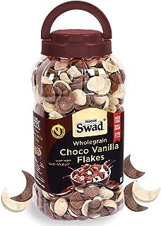Swad Breakfast Cereal, Wholegrain Choco Vanilla Flakes Jar, 350 gm