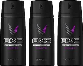 Axe Daily Fragrance/Body Spray - Excite - Net Wt. 4 OZ (113 g) Each - Pack of 3