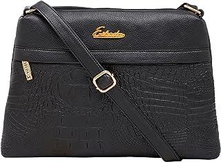 ESBEDA Women's Sling Bag (1750_Black)