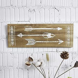 TIMEYARD Arrow Decor, Rustic Wood Arrow Sign Wall Decor - Decorative Farmhouse Home Wall Hanging Decor