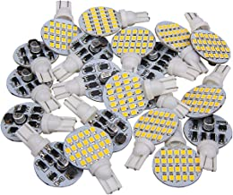 20 x Super Bright 921 194 T10 Warm White 4.8w Boat, Iandscaping, RV, Trailer, Camper Interior Wedge 24-SMD LED Light Bulbs 12v (Come with extra 2pieces of 2nd Generation Bulbs)