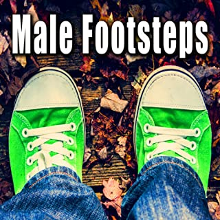 Male Barefoot Walk up Stairs on Wood Deck