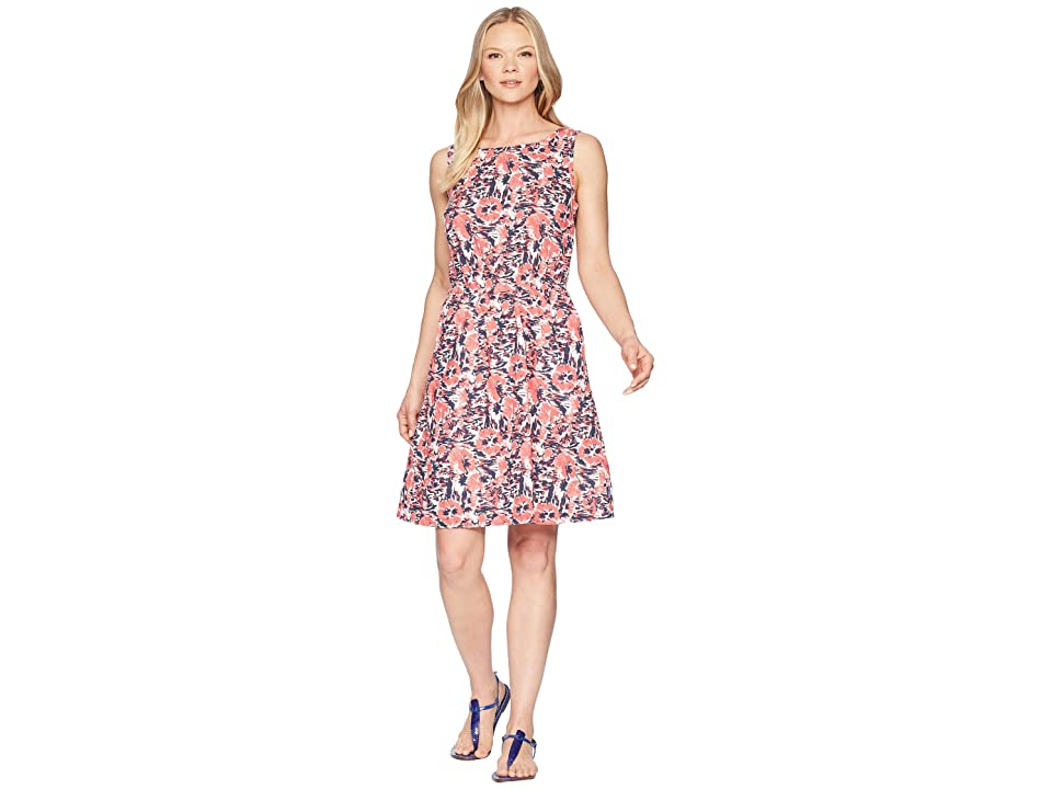 Columbia Harborside Linen Dress (Collegiate Navy Flower Burst) Women
