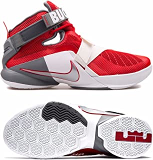 1a5257a6d03d Nike 749490-601 Lebron Soldier IX 9 Ohio State Buckeyes Shoes Mens Sz 13
