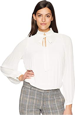 Georgette Tie Neck Top