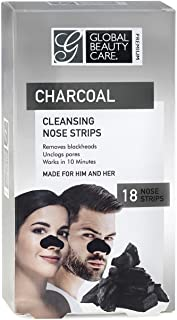 Global Beauty Care Premium Cleansing Nose Strips of Activated Charcoal Nose Strips For Blackheads Removal, Charcoal Blackh...
