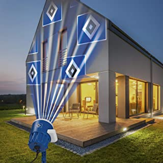 Hamburger SV Logo Projektor Fanartikel   LED-Motivstrahler HSV-Logo   HSV Beleuchtung für Hamburg Supporter blau/weiß 08630