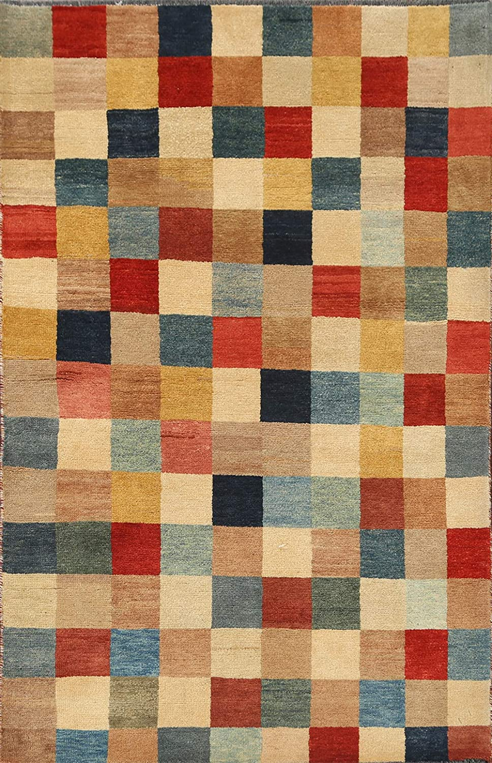 Checkered Modern Directly managed store Gabbeh Kashkoli Oriental Rug National products Area Hand-Kno Wool