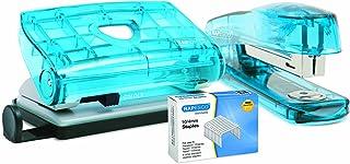 Rapesco R1050BA3 Klippa Agrafeuse et Perforateur avec 1.000 Agrafes 10/4 mm - Couleurs Assorties Transparent