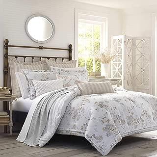 Laura Ashley Lorene Comforter Set, King, Natural