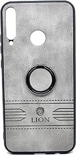 حافظة حماية خلفية فاخرة من الجلد مع حامل لهاتف هواوي واي 7 بي من ليون (رمادي)