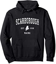 Scarborough Maine ME Vintage Athletic Sports Design Pullover Hoodie