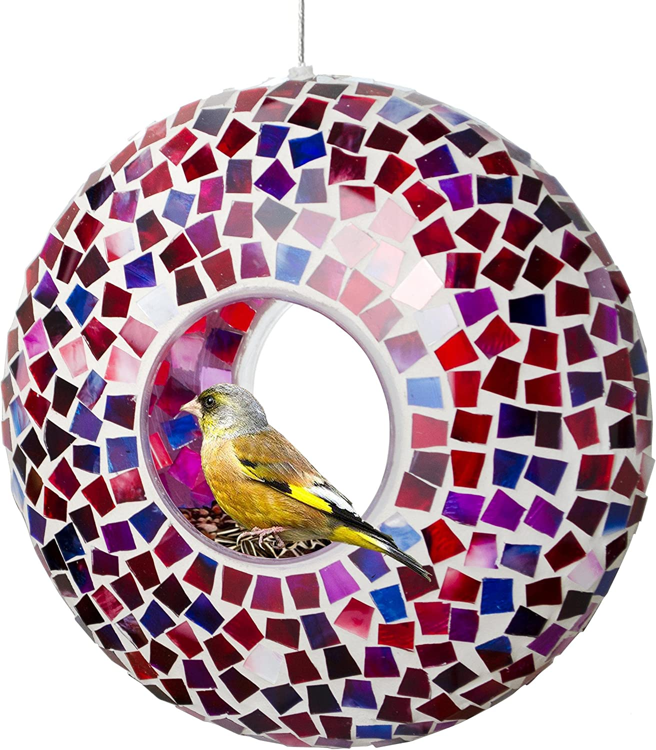 Bird Feeder Large special price 9 Inch for low-pricing Outside Round Decorative Birdfeeder with