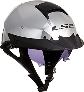 LS2 Helmets Rebellion Unisex-Adult Half Helmet Motorcycle Helmet (Chrome, Large)