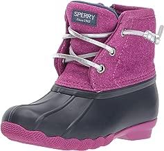 SPERRY Girls' Saltwater Boot Snow, Navy/Magenta, 1 Medium US Little Kid