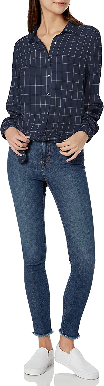 Goodthreads Women's Modal Twill Tie-Front Shirt