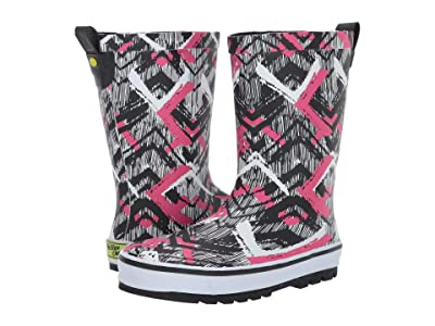 Western Chief Kids Tribal Idol Rain Boots (Little Kid/Big Kid) (Black Multi) Girls Shoes