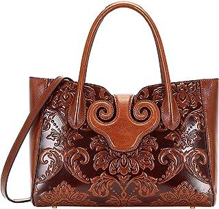 Sponsored Ad - PIJUSHI Floral Handbags For Women Designer Handbag Top Handle Shoulder Bags For Ladies