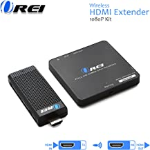 $132 » Wireless HDMI Transmitter & Receiver, by OREI - Extender Full HD 1080p Wirelessly Upto 100 Ft with Dongle - Perfect for Streaming, Laptops, PC, Media and More (Renewed)