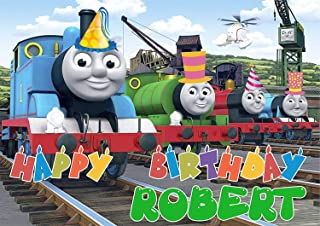 Thomas The Train Tank Engine Edible Image Cake Topper Party Personalized 1/4 Sheet