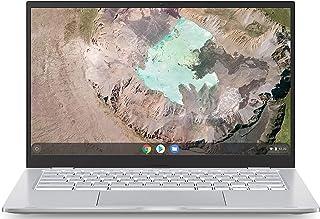 Asus Chromebook C425 クラムシェルラップトップ、14インチ FHD 4ウェイ NanoEdge、Intel Core m3-8100Yプロセッサー、4GB RAM、128GB eMMCストレージ、バックライトKB、シルバー、...