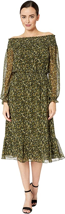 Camo Butterflies Midi Dress